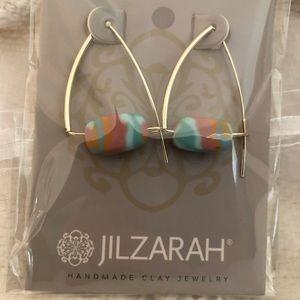 Salt Water Taffy Gold Triangle Earrings